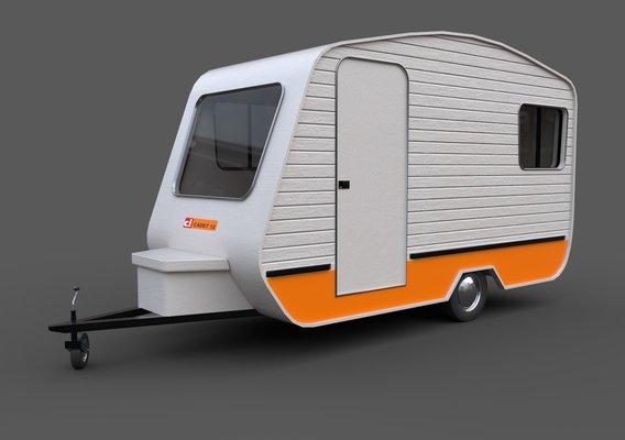 Caravan Trailer - PBR