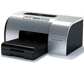 Silver Hp Inkjet Business 3D model