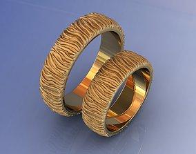 Yellow Gold Wedding Rings 3D printable model