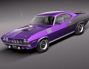 3D Plymouth Hemi Cuda Barracuda 1971