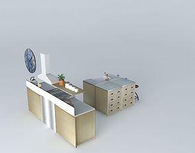 Zinc the kitchen island world Houses 3D