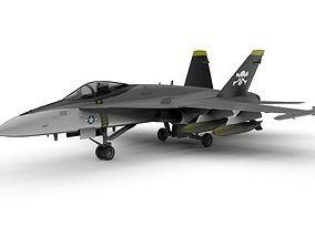 3D asset Boeing F-18 Super Hornet Jet Plane