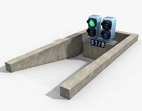 3D model Railway Dwarf Traffic Light