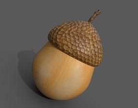 Acorn 3D model game-ready