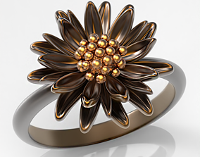 Aster ring 3D printable model