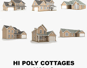 3D Hi-poly cottages collection vol 2