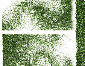 3D model Set of 2 ivy patterns for walls or fence