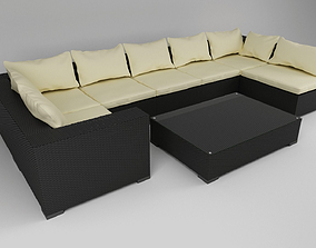 furniture-challenge Exterior Sofa 3D model