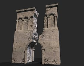 3D asset low-poly Medieval ruin