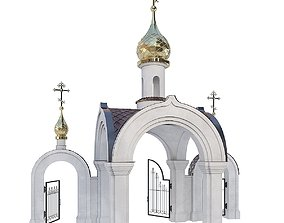 The Gate To The Church Of St Nicholas 3D model