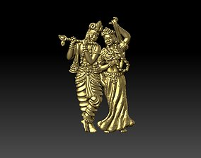 3D print model Radha Krishna Standing