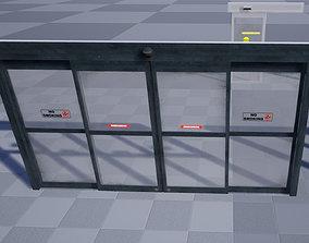 3D asset Automatic Sliding Doors
