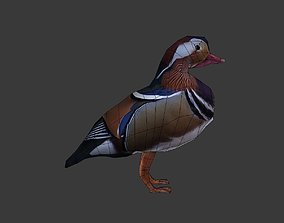 low-poly Mandarin duck 3d