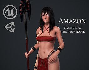 Amazon Warrior Priestess - Native Female 3D model 2