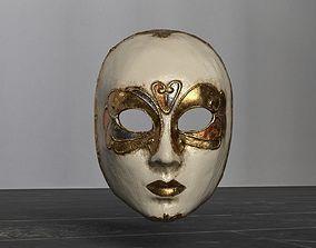 Venetian Mask Girl 3D model
