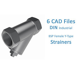Y-Type Strainers - BSP Threaded Ends 3D model