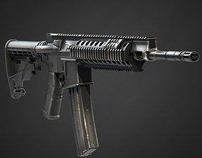 Barret Rec7 Assault Rifle 3D model