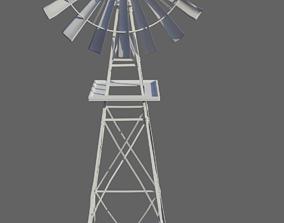 3D model Old Wind Turbine