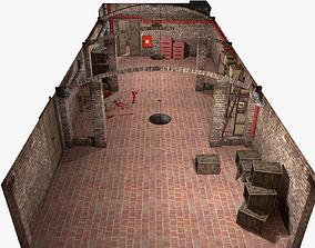 Basement Interior Lowpoly 3D asset