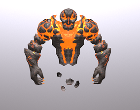 3D asset Fire Spirit Elemental