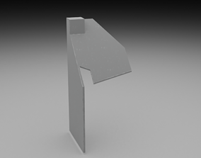F16 Right Auxiliary Pedestal 3D model PBR