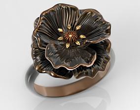 3D printable model Entrancing Poppy ring