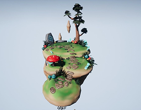 3D model Floating Island 01