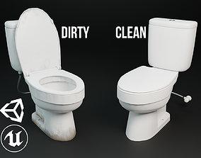 Dirty Toilet 3D asset
