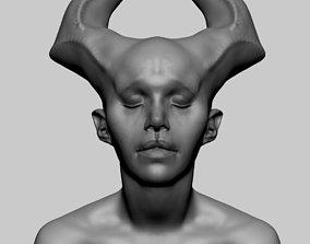 Female Creature Bust 3D