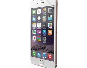 Apple iPhone 6s Plus Rose Gold 3D asset