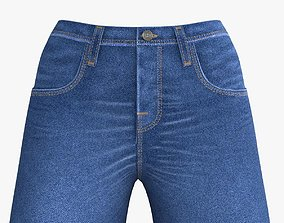 3D model VR / AR ready Blue Jeans for young woman