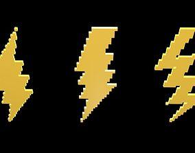 Thunder symbols voxel 5 3D model