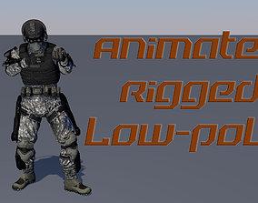 3D model Soldier SWAT