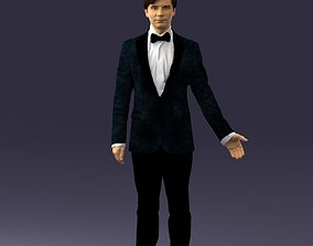 3D model Boy in suit with bow tie 0462