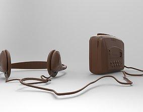 3D printable model radio player mod2