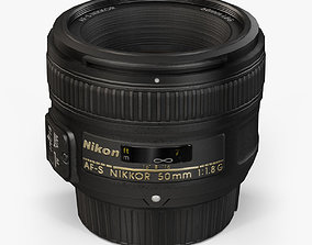 Nikon AF-S Nikkor 50mm f 1-8G Lens 3D asset