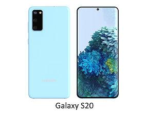 3D Samsung Galaxy S20 Cloud Blue
