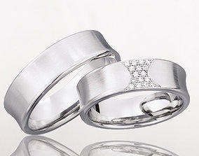 3D print model Wedding rings 214
