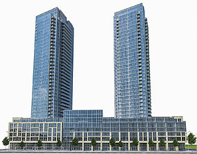 Residential Tower Complex 01 3D model