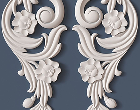 Decorative Scroll wall-decoration 3D model
