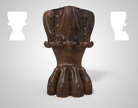 wood leg 3D printable model