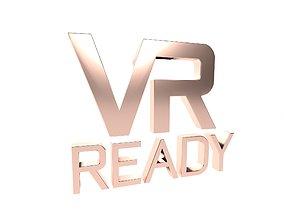 VR Ready Symbol v1 007 3D asset