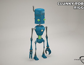 3D model Clunky Robot Rigged