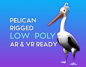 rigged 3D Cartoon Pelican