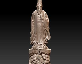 Confucius statue 3D print model