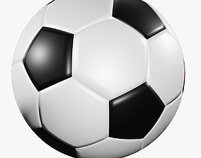 3D model low-poly soccer foot ball