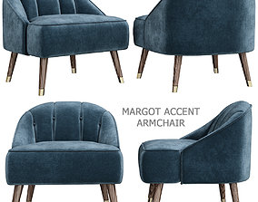 Margot Accent Armchair 3d model low-poly
