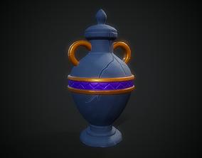 Stylized Pot - Tutorial Included 3D model