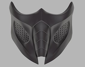 Smoke mask for face from Mortal Kombat 9 3D print model 1