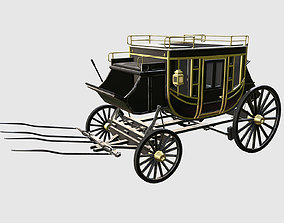 historic carriage 3D asset